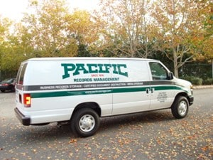 Pacific Retrieval and Delivery Van